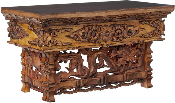 Table basse indienne dragons