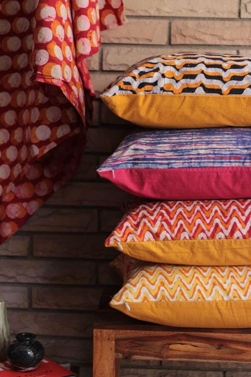 Coussins motifs indiens